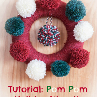 How to make a pom pom christmas wreath