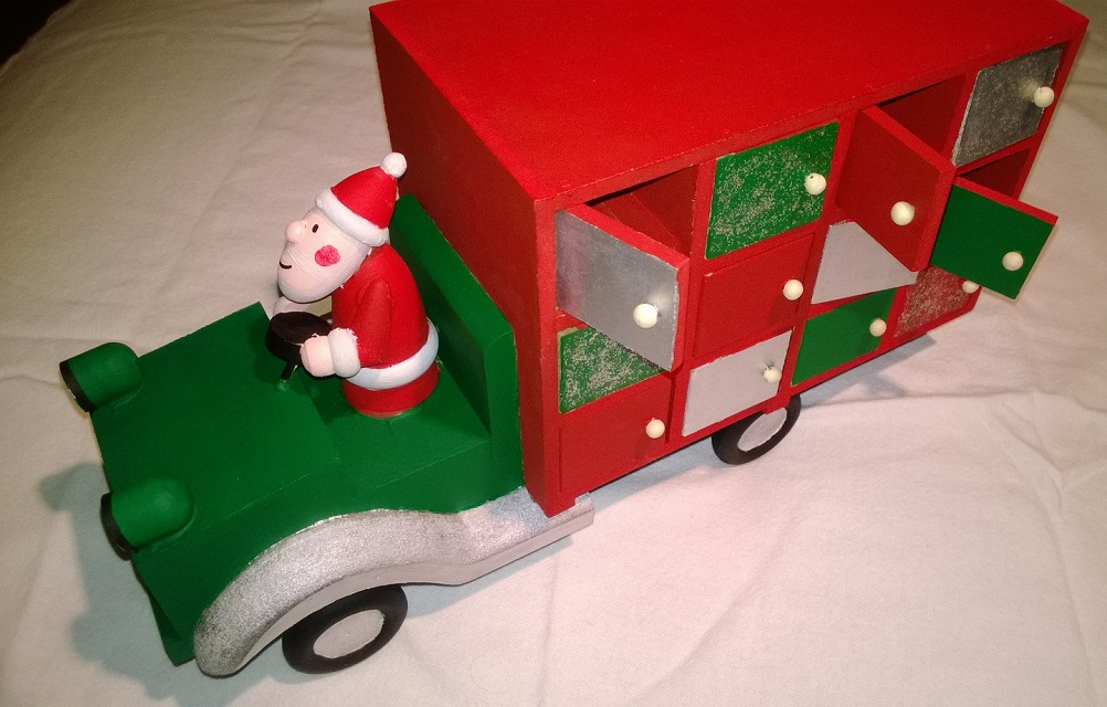 Hobbycraft advent truck before decoration