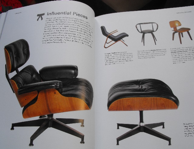 Lounge chair and ottoman designed by Charles and Ray Eames 1956