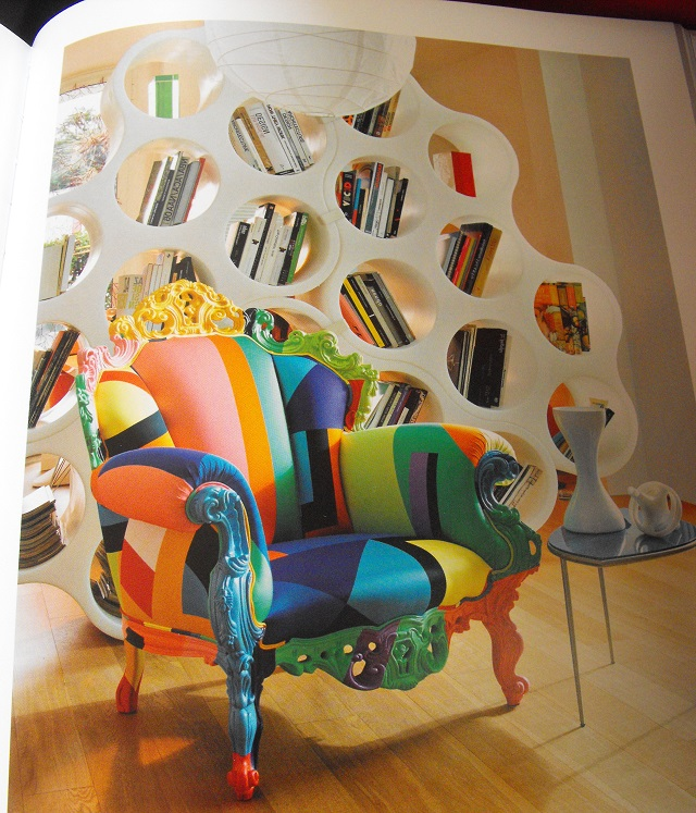 Proust chair with Ronan and Erwan Bouroullec bookcase 1978