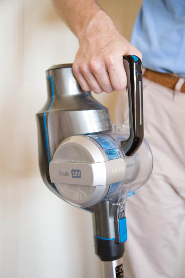 The Vax Blade cordless vacuum cleaner - handle